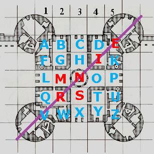 Les lettres sur le donjon de Chambord.