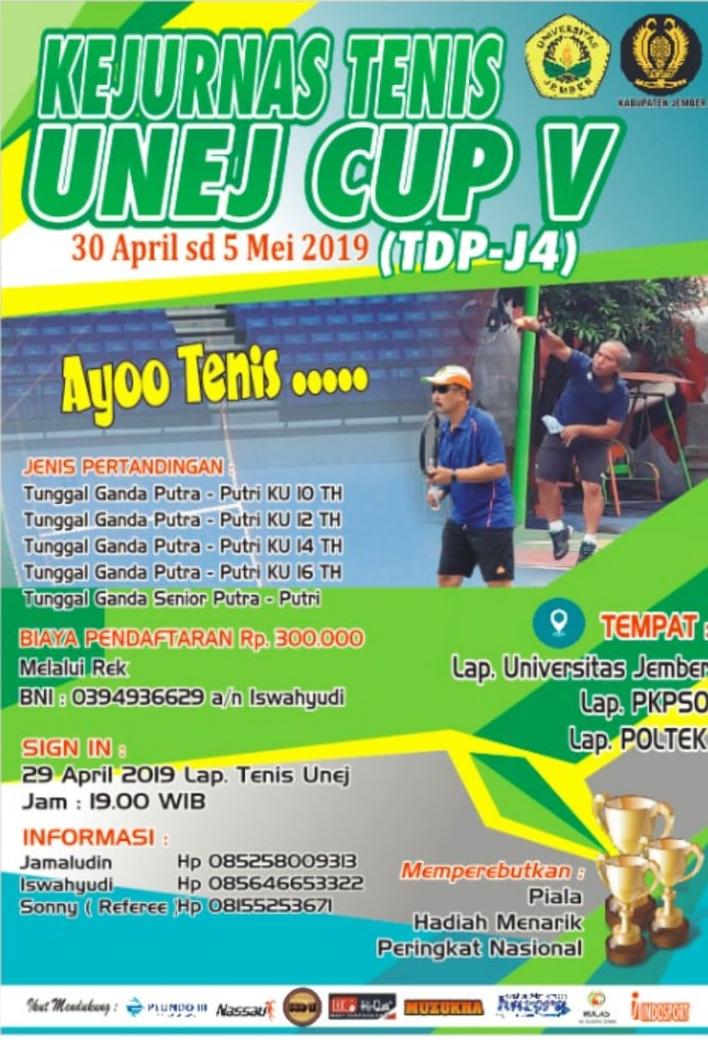Kejuaraan Nasional Tenis UNEJ CUP V