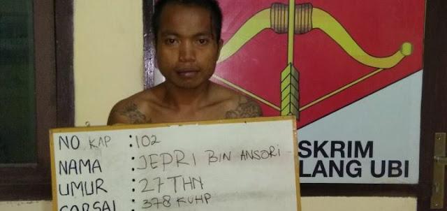 Polsek Talang Ubi bekuk Brimob gadungan