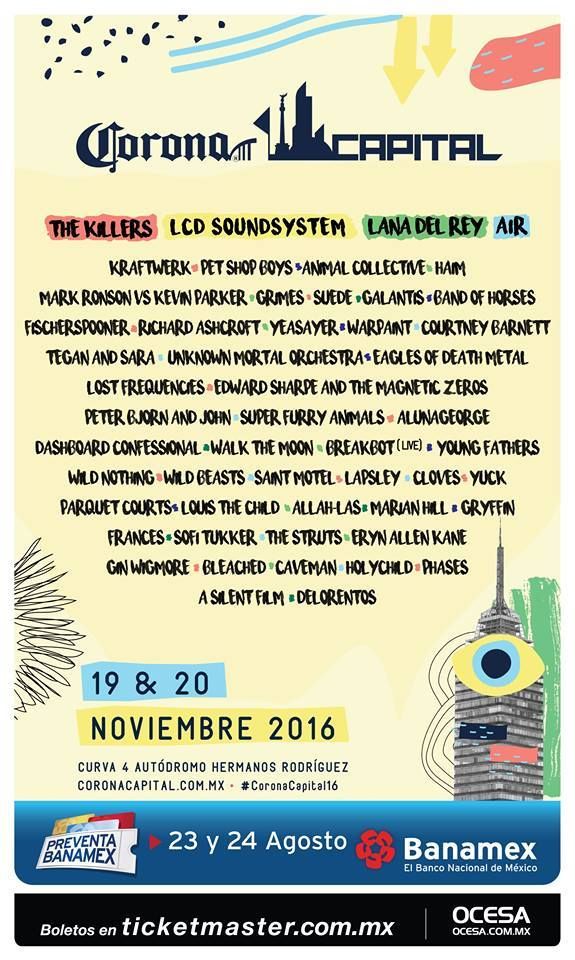 corona capital 2016 artistas