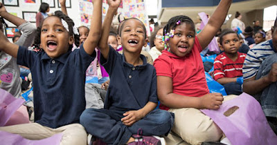Children at after-school program