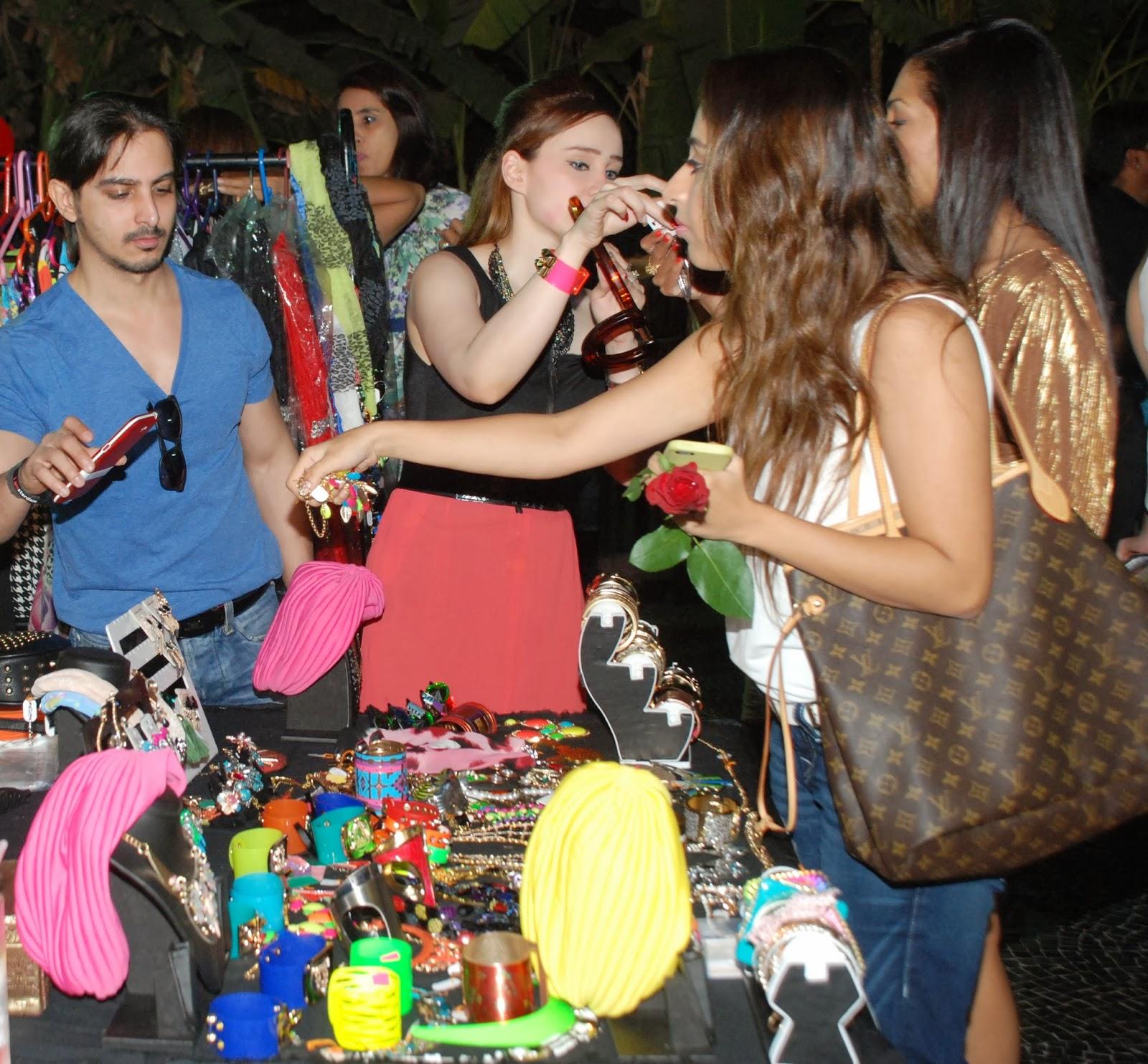 Guest shopping at Feisty Fox at Villa 69