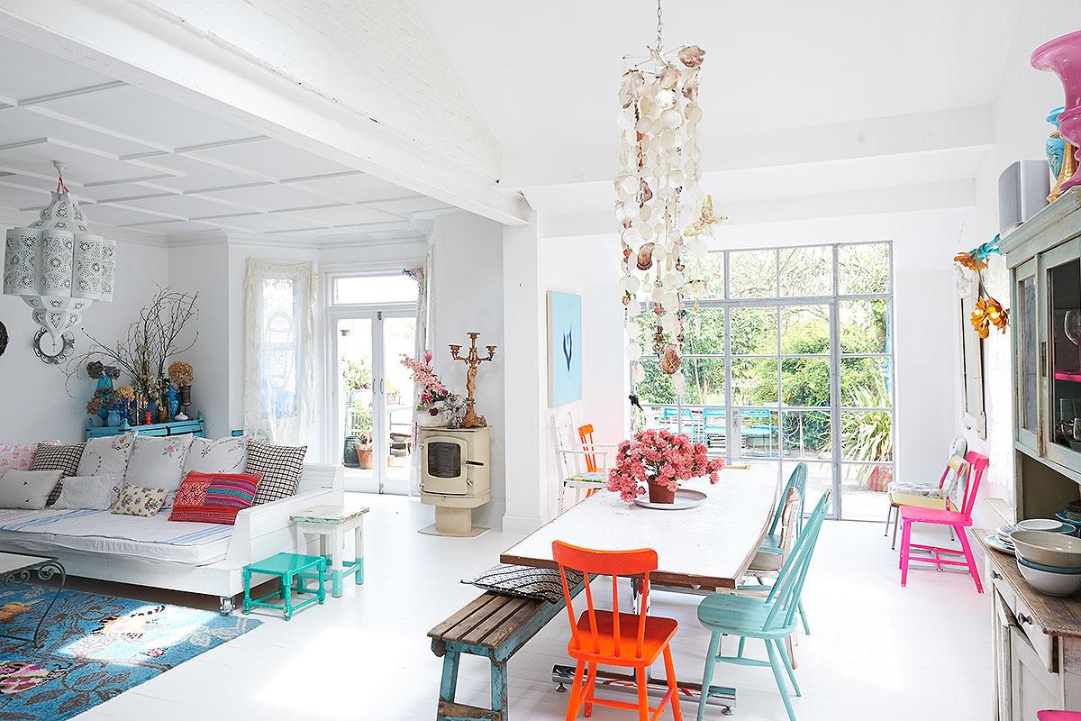barwne mieszkanie w stylu eklektycznym