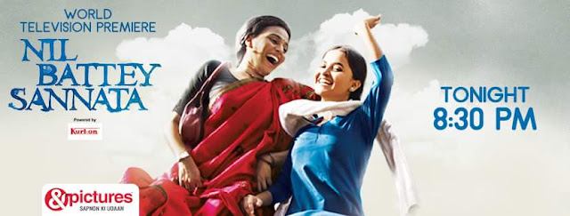 'Nil Battey Sannata' Movie Tv Premier on &Pictures Channel Wiki Full Detail