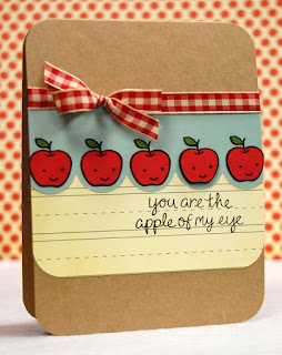 Cute Little Apple Card
