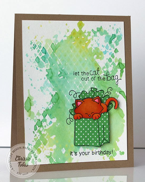 Kitty card by Chrissie Tobas for Newton's Nook Designs Inky Paws Challenge 7