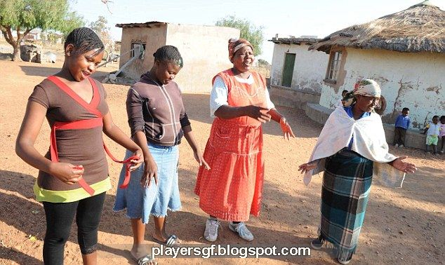 Caster Semenya's family members and friends all insist she is a girl: from left, Paballo Choshi, 19, (cousin); Nkele Semenya, 16, younger sister; Shirley Rammabi, neighbour and Martinah Lamola aunt from Masetlong village at Moletjie in Limpopo.
