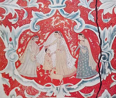 Pitture murali indiane - portfolio con 6 tavole - india - arte - annunci