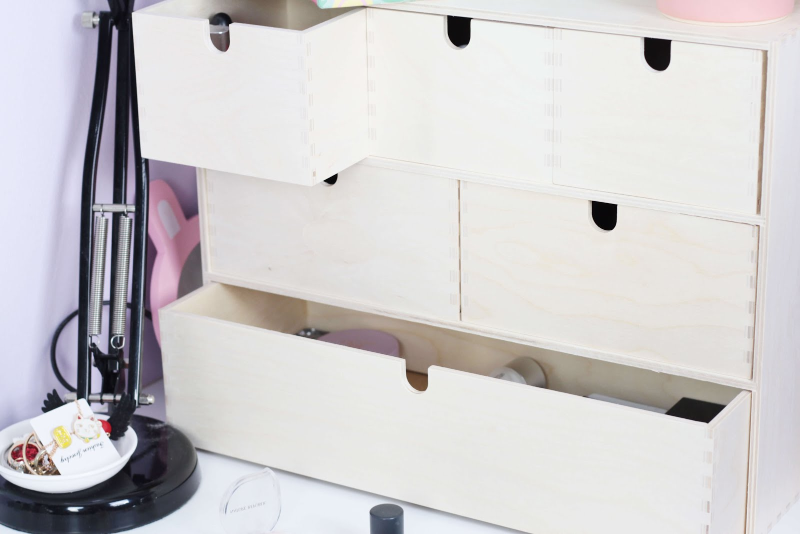 makeup storage small medium collections ikea moppe drawers