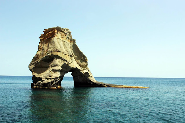 Greece, Milos, cruise, travel, catamaran, rocks, blue, water