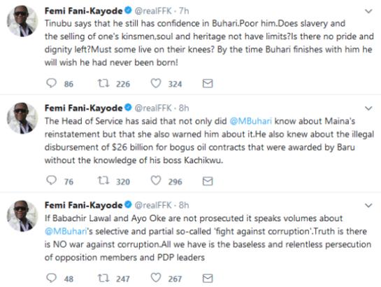 Fani-Kayode's Tweet s