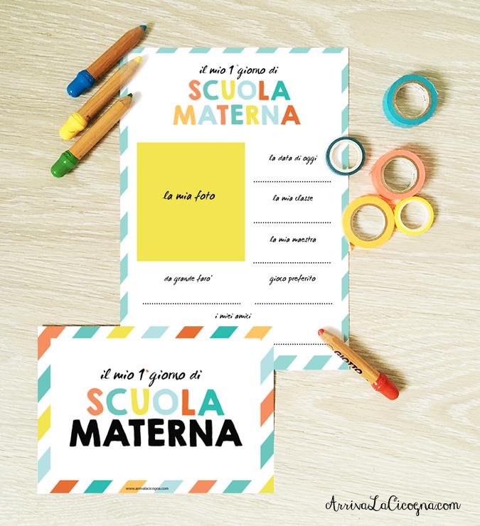 printables da stampare per imprimo giorno di scuola materna
