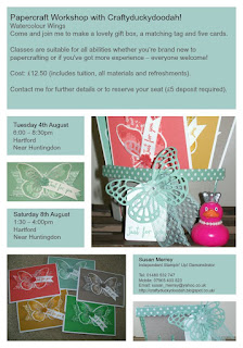 Stampin' Up! Independent Stampin' Up! Demonstrator Susan Merrey Craftyduckydodah! Watercolour Wings Workshop July 2015