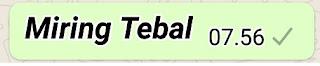 Membuat Tulisan Miring Tebal Whatsapp