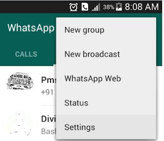 Whatspp settings