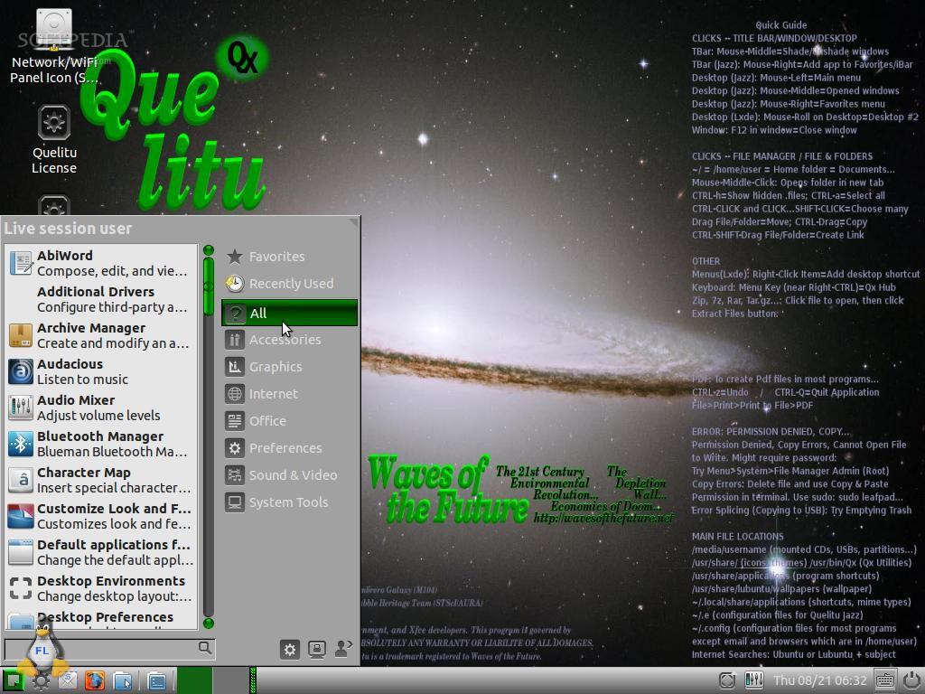 FERRAMENTAS LINUX: Quelitu 16 04   A distribuição Linux que