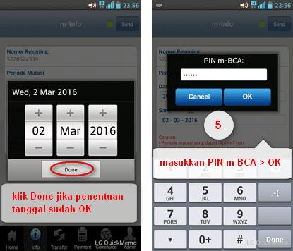 Cara Cek Mutasi Rekening BCA Pakai m-BCA Android ~ Walidin