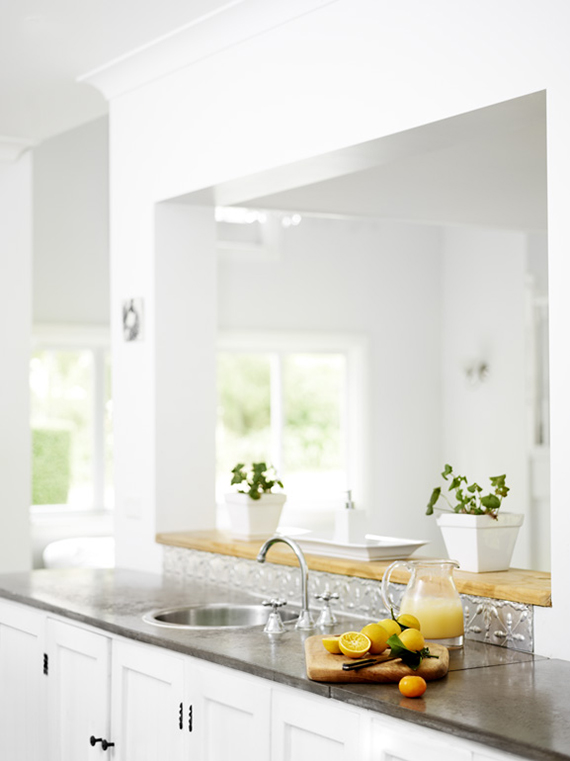 Bright kitchen with open counter. Image by Toby Scott