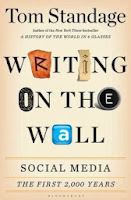 Book Cover:  Writing on the Wall by Tom Standage. Image Source: http://img2.imagesbn.com/p/9781620402849_p0_v2_s260x420.JPG