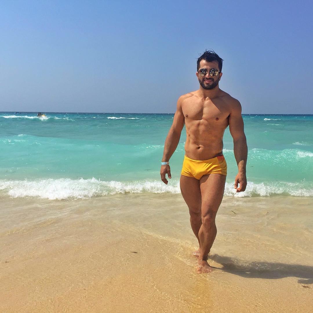 Alex Silva curte praia paradísíaca no Mar do Caribe. Foto: Arquivo pessoal