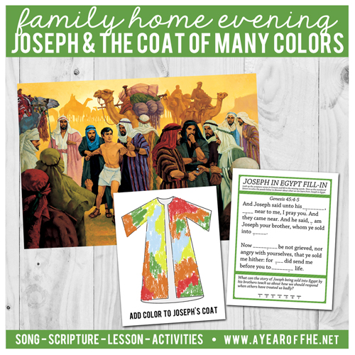 A Year Of Fhe Year 02 Lesson 21 Joseph S Coat Of Many Colors Joseph Coat Of Many Colors Activity