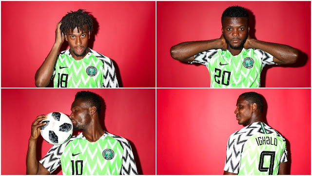 super eagles official potrait for 2018 World cup