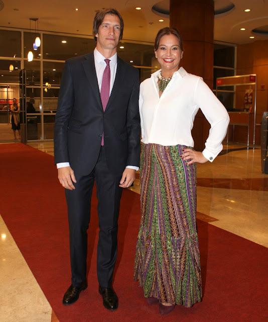 Iván de Pineda y Mariana López Rey en la Comida Anual Solidaria de COAS