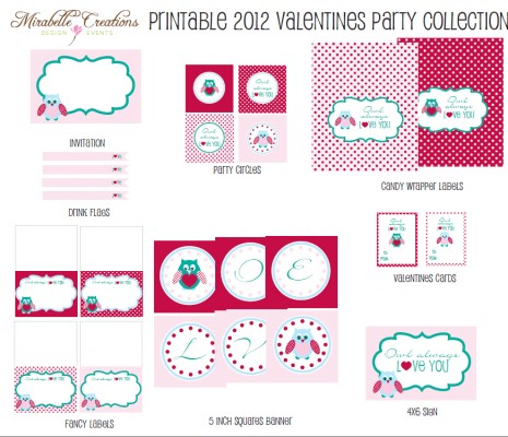 http://catchmyparty.com/blog/free-valentines-day-party-printables-from-mirabelle-creations