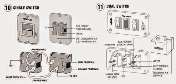 suburban water heater switch wiring