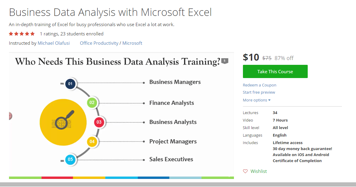 My Improved/Updated Business Data Analysis With Excel ...