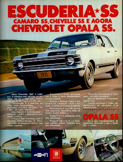 propaganda Chevrolet Opala SS - 1971, brazilian advertising cars in the 70s; os anos 70; história da década de 70; Brazil in the 70s; propaganda carros anos 70; Oswaldo Hernandez;.