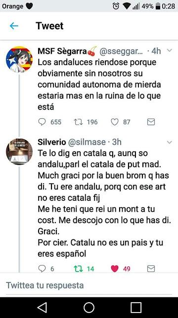 Andalús contestán a MSF Sègarra ,  fique la è per a que paregue mes catalá lo apellit