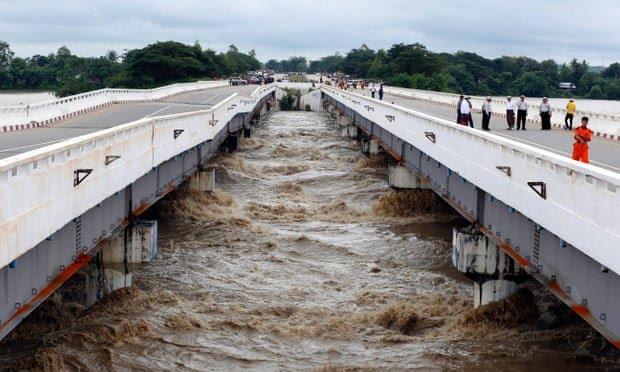 Myanmar dam breach