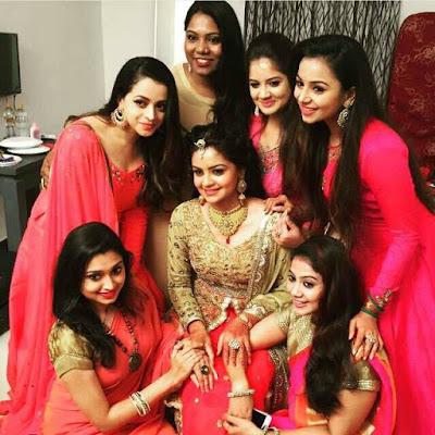 Anchor Shilpa Bala engagement ensemble