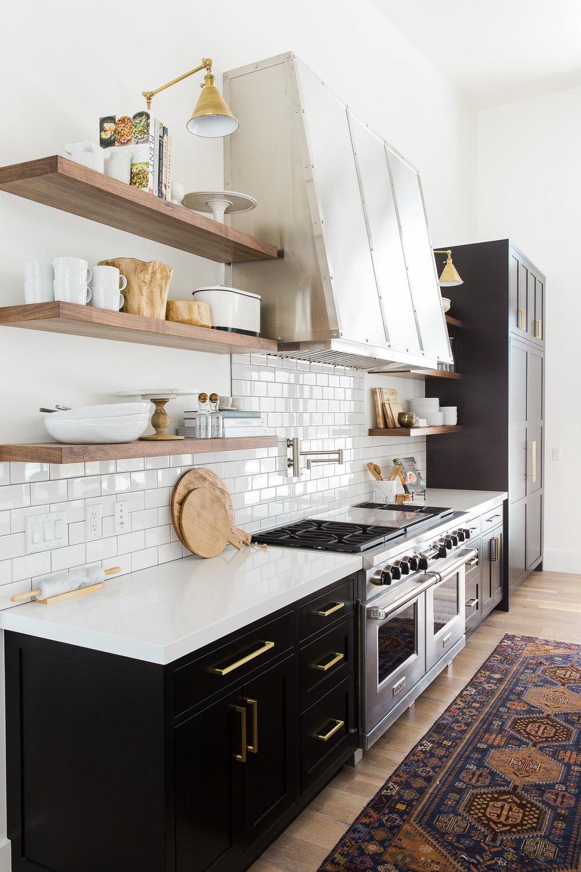 Modern farmhouse kitchen with white subway tile modern mountain urban minimal interior design room
