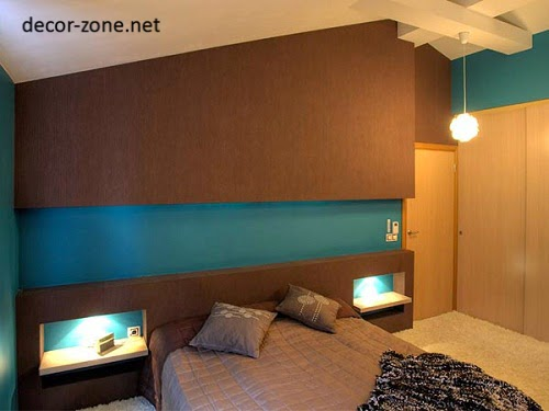 Modern Bedroom Designs In A Brown Turquoise Color Combination