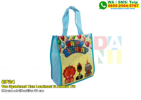 Tas Spunbond Box Laminasi 3 Animal FN