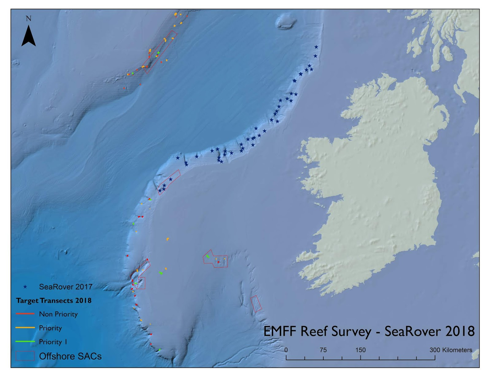searover 2017 survey sites and 2018 target sites on ireland s continental margin and beyond