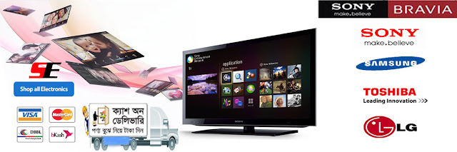 Please Visit Our Website for TV, AC, Home-Appliance | Welcome Banner for CASH on Delivery.