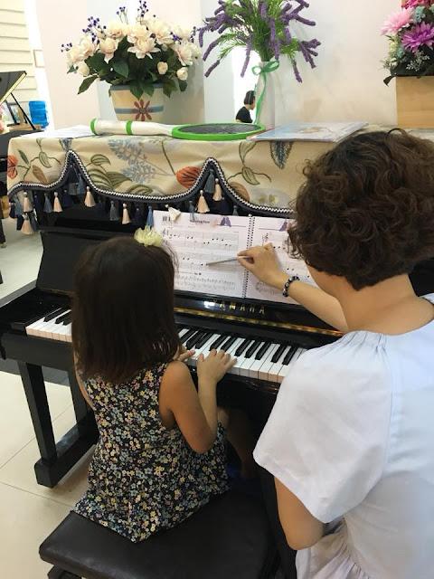 Giờ học trên đàn Piano Cơ