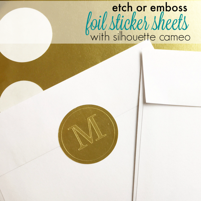 Silhouette cameo foil stickers etching engraving embossing