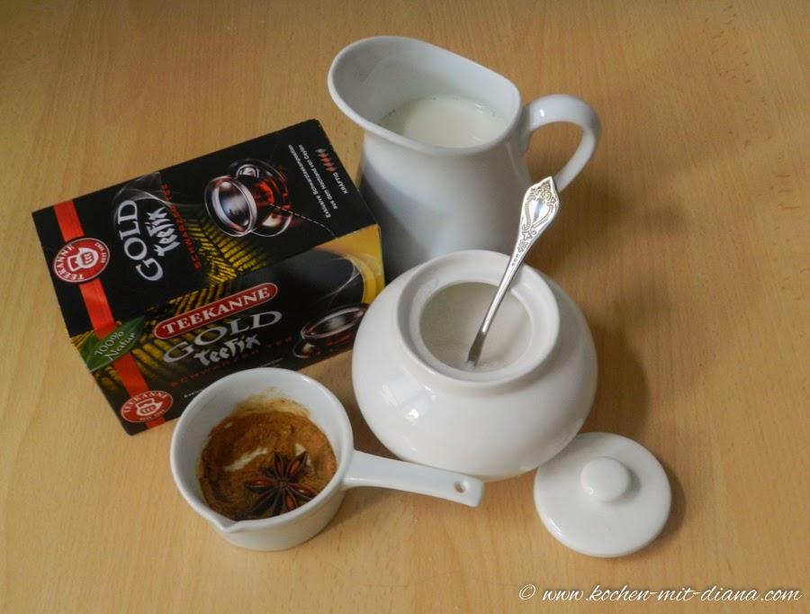Zutaten Chai Latte