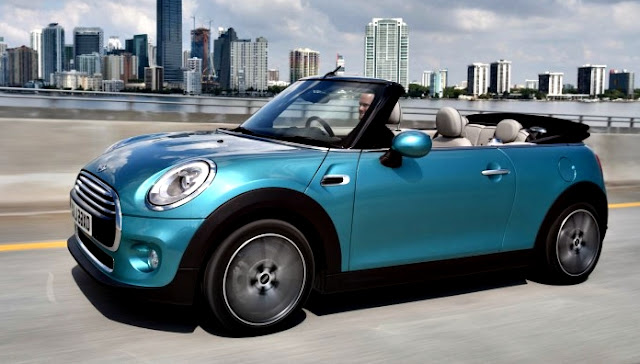 Mini Cabrio Cooper y Cooper S azul claro