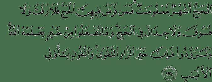 Surat Al-Baqarah Ayat 197