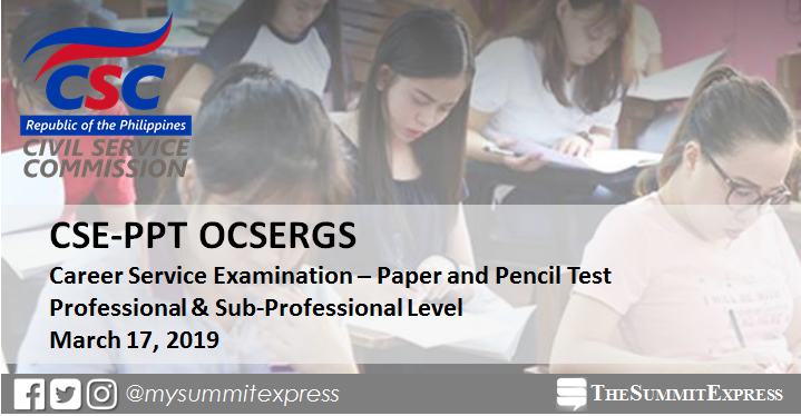 Online Verification of Rating OCSERGS: March 2019 Civil Service Exam CSE-PPT