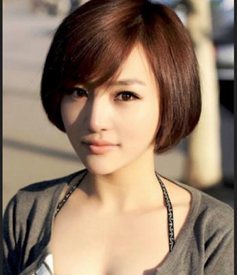 Model rambut bob pendek wanita untuk wajah bulat