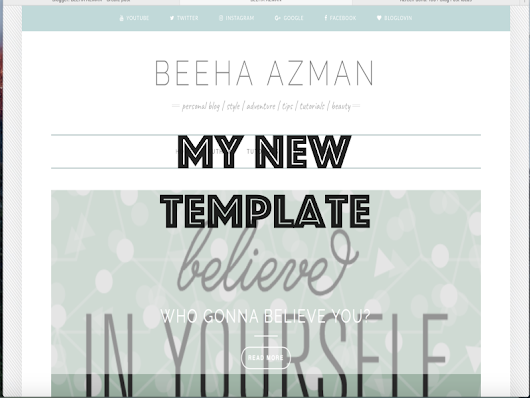 BEEHA AZMAN: Web For My Blog Template