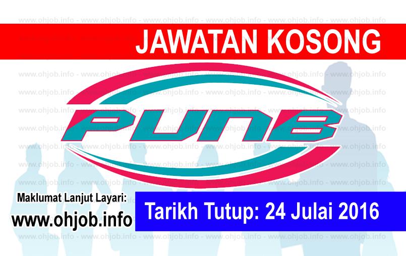 Jawatan Kerja Kosong Perbadanan Usahawan Nasional Bhd (PUNB) logo www.ohjob.info julai 2016