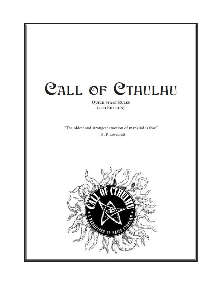 Susurros desde la Oscuridad: Call of Cthulhu 7th Edition