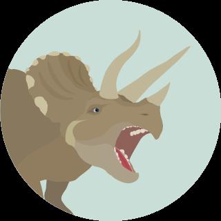 Динозавр Трицератопс - маленькая картинка